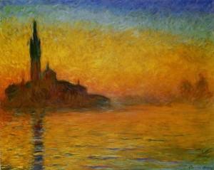 Coucher de soleil, Venise, Claude MONET
